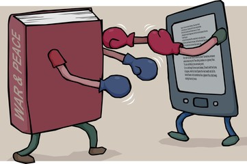 e reader vs book