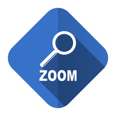 zoom flat icon