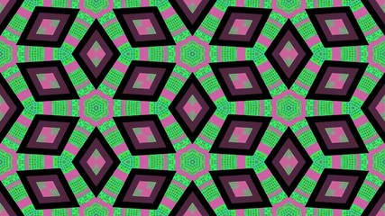 Abstract kaleidoscopic shapes