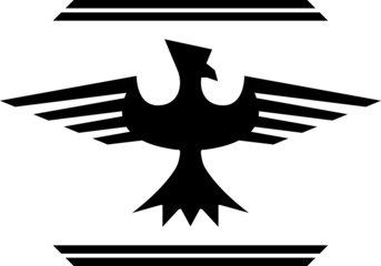 silhouette of fantasy bird