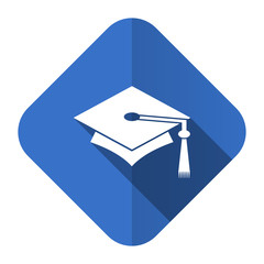 education flat icon graduation sign