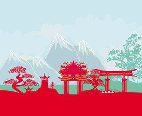 Asian abstract landscape