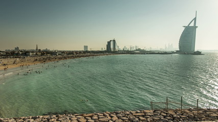time lapse photography, Jumeirah Beach