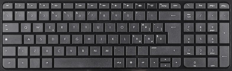 Qwerty keyboard with numpad