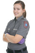 Paramedic employee in the front of a white background - 77479703