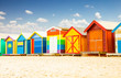 Bathing houses at Brighton beach in Melbourne, Australia. - 77479733
