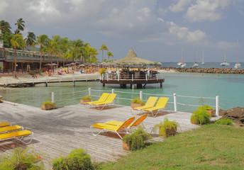 On beach of Puent-du-But (Pointe du Bout). Martinique
