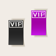 realistic design element: vip
