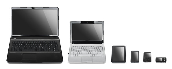 Technology evolution: collection of different kind of devices