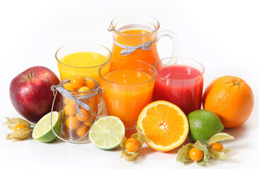 juice and fruits