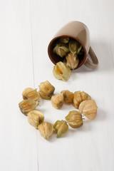 Heart Shape Made Of Physalis Fruits