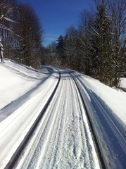Schienen im Schnee