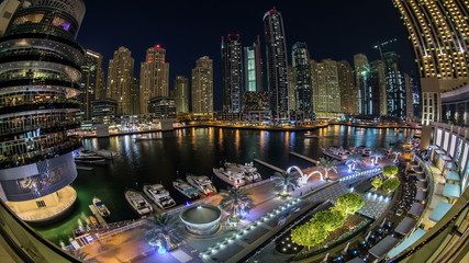 time lapse photography, view of Dubai