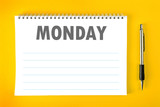 Monday Calendar Schedule Blank Page