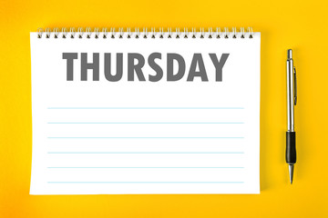 Thursday Calendar Schedule Blank Page