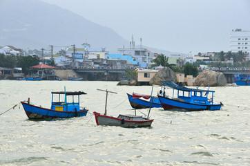 Вьетнам, Нячанг, рыбацкая деревня на реке Кай