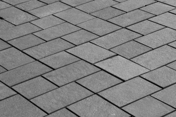 Diagonal view of paving slabs