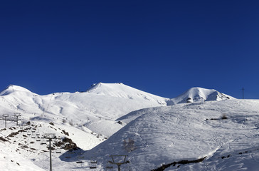Ski resort at sun day