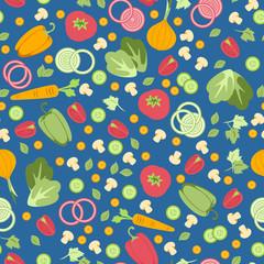 Patrón vector transparente de verduras