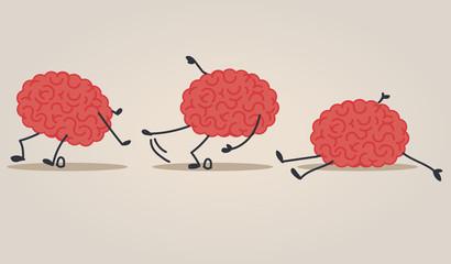 Brain falling