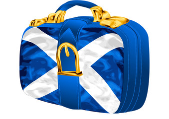 bag with scottish flag design