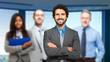 Multiethnic business people