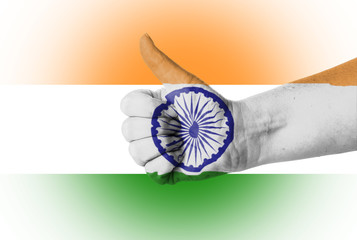 Thumb up for India