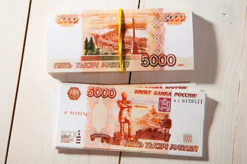 Russian ruble banknotes