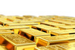 Gold bars with shallow depth of field - 77488182
