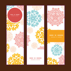 Vector abstract decorative circles stars vertical banners set