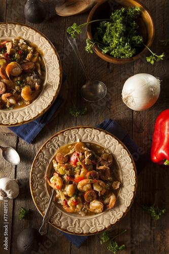 Homemade Shrimp and Sausage Cajun Gumbo