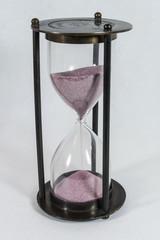 Песочные часы, кварцевый песок, розовый цвет