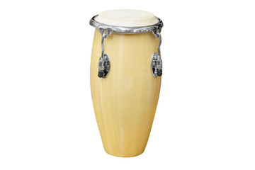 African conga drum isolated on white background