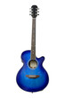 The image of blue acoustic guitar isolated - 77492122