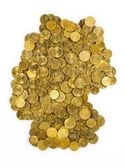 Deutschlandkarte aus Eurocent Münzen