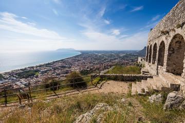ancient temple in Terracina, Lazio, Italy