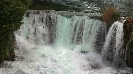 Panoramic shot of waterfall on Krka river-Croatia