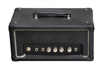 Guitar amplifier isolated under the white background