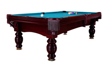 Green billiard table