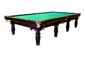 large green pool table