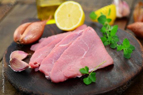 Leinwanddruck Bild Kalbsschnitzel