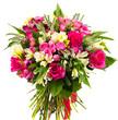 Obrazy na płótnie, fototapety, zdjęcia, fotoobrazy drukowane : Bouquet of roses and alstroemerias