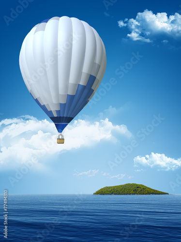 lanscape with an air balloon