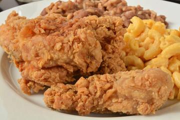 Fried chicken close up