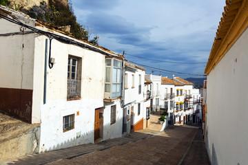 Picturesque narrow street in european city