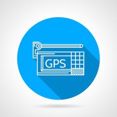 GPS navigator flat line vector icon