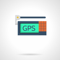 GPS device flat vector icon