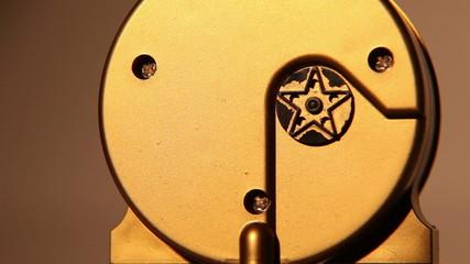 Back side of old clock