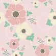 "Pink vintage pattern ""Nostalgic flowers"""