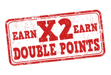 Earn x2 double points stamp
